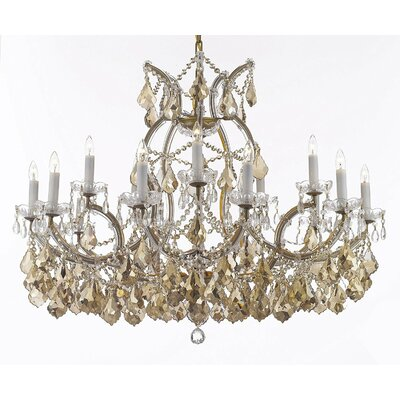 Carswell 16-Light Chain Candle-Style Chandelier