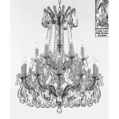 Carswell 18-Light Candle-Style Chandelier Color: Silver