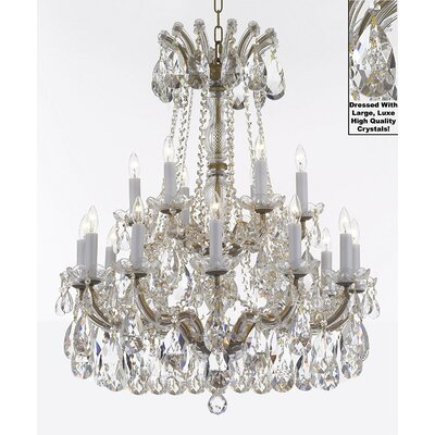 Carswell 18-Light Candle-Style Chandelier Finish: Gold