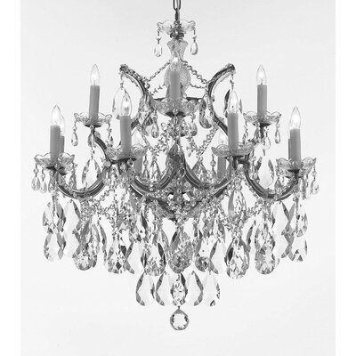 Carswell 13-Light Chain Candle-Style Chandelier Color: Silver