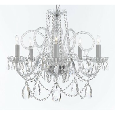 Crawley 5-Light Crystal Chandelier