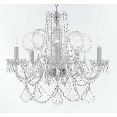 Creeves Hanging 5-Light Crystal Chandelier