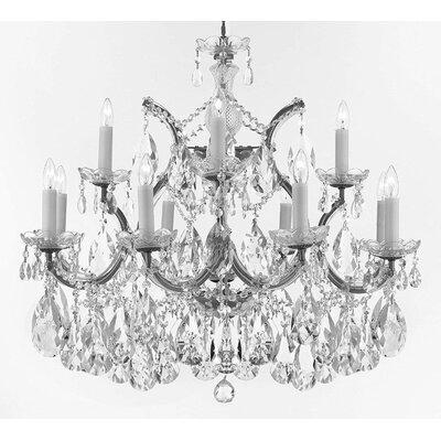 Bellefonte Glam 13-Light Crystal Chandelier Finish: Silver