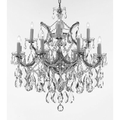 Bellefonte 2-Tier 13-Light Crystal Chandelier Color: Silver