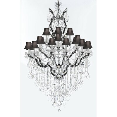 Borunda Iron 25-Light Crystal Chandelier Shade Color: Black