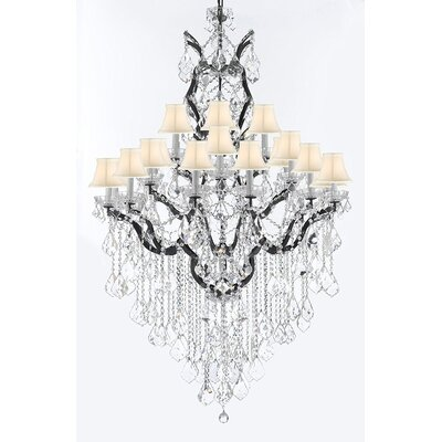 Borunda 25-Light Crystal Chandelier Shade Color: White