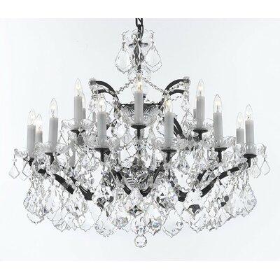 Alvan Iron 18-Light Crystal Chandelier