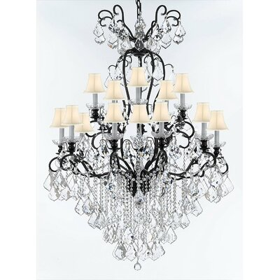 Borunda 16-Light Crystal Chandelier Shade Color: White