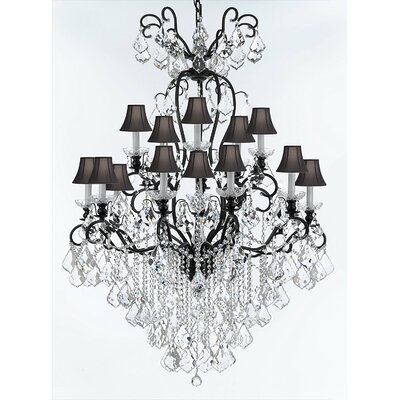 Borunda 16-Light Candle-Style Chandelier Shade Color: Black