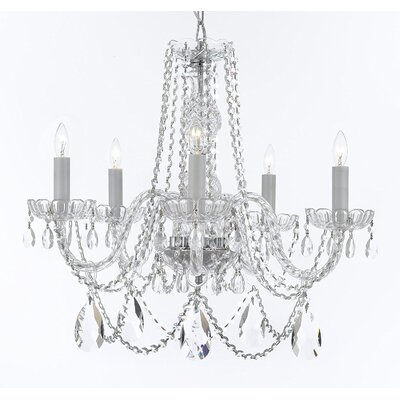 Bowerville 5-Light Crystal Chandelier