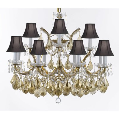 Barrera 13-Light Candle-Style Chandelier Shade Color: Black