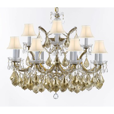 Barrera 13-Light Candle-Style Chandelier Shade Color: Beige