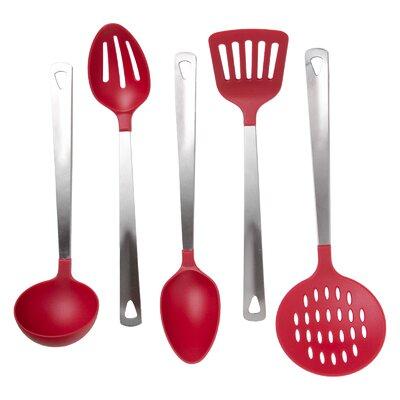 Chantal 5 Piece Kitchen Utensil Set Color: Red 261E056F18D94B8692CCE1D1B920D93B