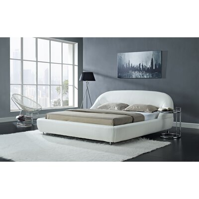 Mia Upholstered Platform Bed Size: Queen