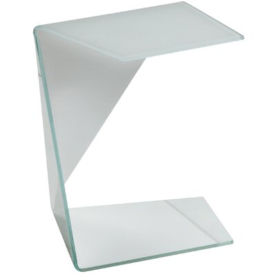 Origami End Table Color: White