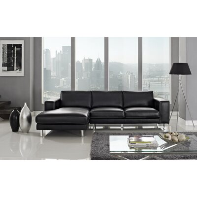 Anika Sectional Upholstery: Black, Orientation: Left Hand Facing