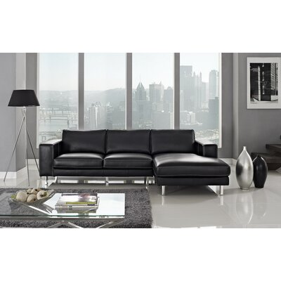 Anika Sectional Upholstery: Black, Orientation: Right Hand Facing