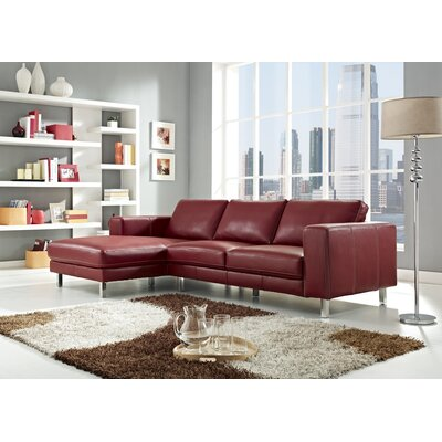 Anika Sectional Upholstery: Red, Orientation: Left Hand Facing