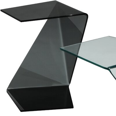 Origami End Table Color: Black