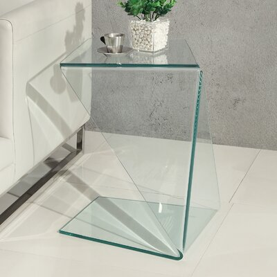 Origami End Table Finish: Clear