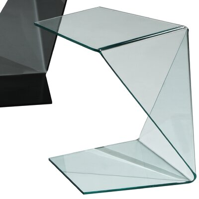 Origami End Table Color: Clear