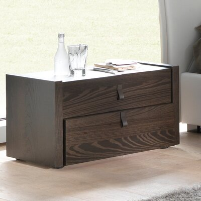 Creative Furniture Esprit 2 Drawer Nightstand - Finish: Espresso