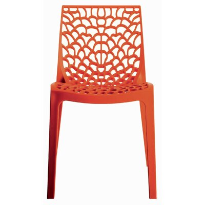 Gruvyer Side Chair (Set of 2) Finish: Orange