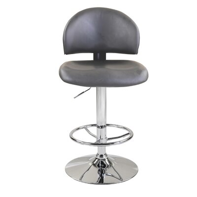 Adjustable Height Swivel Bar Stool (Set of 2) Upholstery: Grey