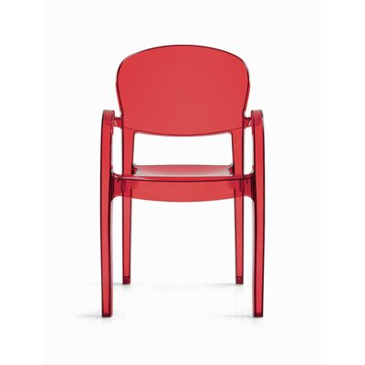 Joke Arm Chair Finish: Transparent Red