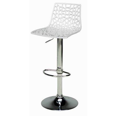 Spider Adjustable Height Swivel Bar Stool (Set of 2) Upholstery: White