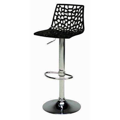 Spider Adjustable Height Swivel Bar Stool (Set of 2) Upholstery: Black