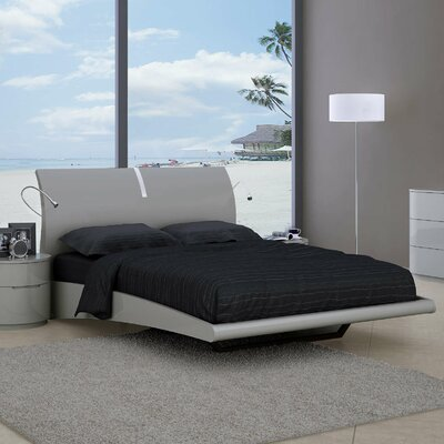 Moonlight Platform Bed Size: King, Color: Gray