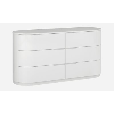Moonlight 3 Drawer Standard Dresser Color: White Moonlight Dresser White