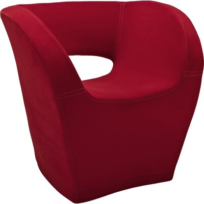 Pandora Barrel Chair Upholstery: Red