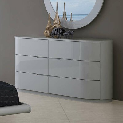 Moonlight 3 Drawer Standard Dresser Finish: Gray