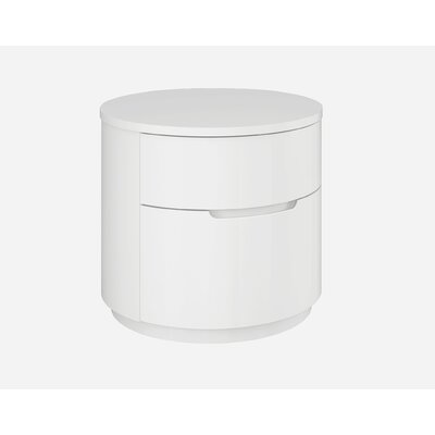 Moonlight 2 Drawer Nightstand Color: White Moonlight Nightstand White