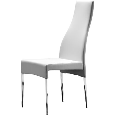 Megan Side Chair (Set of 4) Upholstery: White