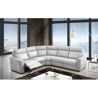Symmetrical Leather Reclining Sectional