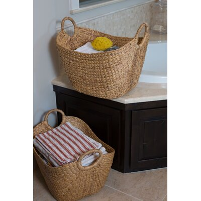 Wicker Laundry Basket Color: Natural
