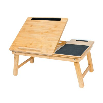 Multi-Tasking Wood Lap Tray with Phone and Tablet Holder 5030