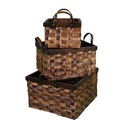 Abaca Flat Weave 3 Piece Nesting Basket