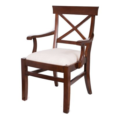 Arm Chair Upholstery: Mahogany
