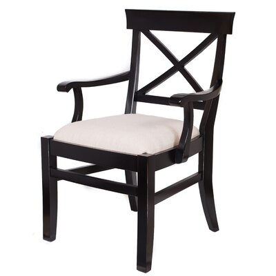 Arm Chair Upholstery: Distressed Black