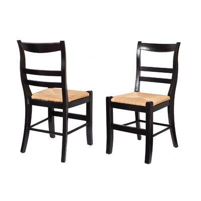 Solid Wood Dining Chair Finish: Distressed Black