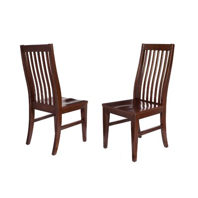 Solid Wood Dining Chair Upholstery: Mahogany