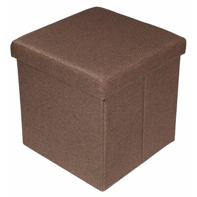 Storage Ottoman Upholstery: Brown