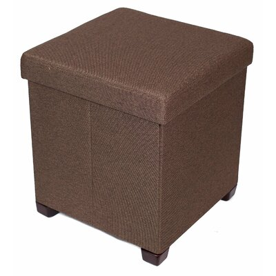 Folding Storage Ottoman Upholstery: Brown