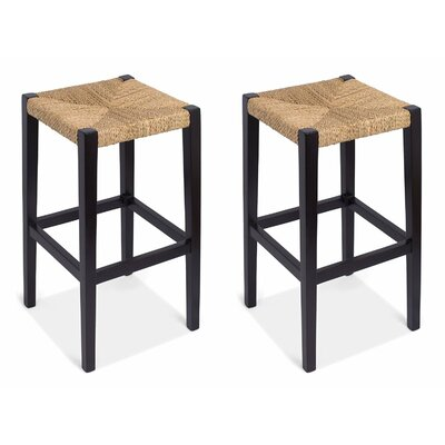Rush Weave  30 Bar Stool