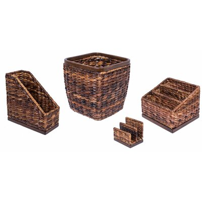 3 Piece Hand Woven Seagrass Supplies Organizer Set 8250