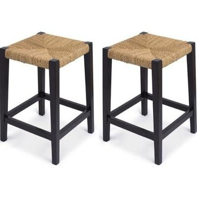 Rush Weave 24 Bar Stool